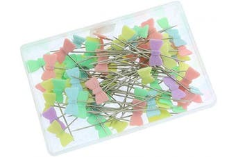Batino 160pcs Flat Head Sewing Straight Pins Tie Style Patchwork Quilting Pins Dressmaking Pin Sewing DIY Accessories Mixed Colours