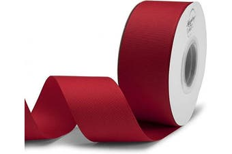 (2.5cm  - 1.3cm  X 25 Yards, Red) - Humphrey's Craft 3.8cm Red Grosgrain Ribbon - 25 Yards Variety of Colour for Crafts DIY Gift Wrapping Making Hair Bows Decoration Wedding Scrapbooking.