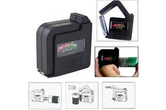 Battery Tester,Universal Battery Checker Metre,Multi Purpose Household Battery Load Tester Checker for AA/AAA/C/D/9V/1.5V Small Button Cell Batteries 12 V Lantern Cells & More (Black)