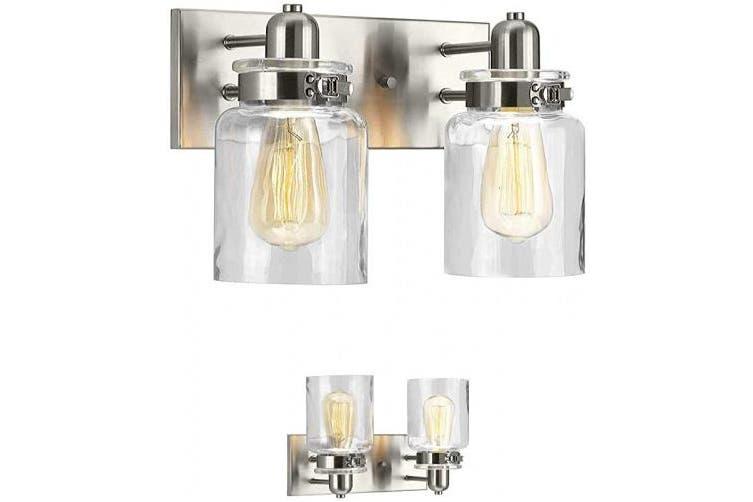 2 Lights Brushed Nickel Bathroom Vanity Light Fixture Bath Interior Lighting Brushed Nickel 2 Lights Kogan Com
