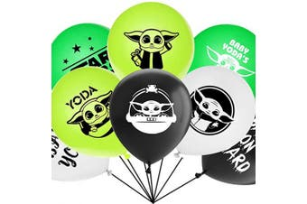 Birthday Balloons For Star Wars Yoda Party Decorations Supplies 30cm Size 40pcs