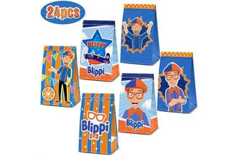 24 Party Bags For Blippi Birthday Party Decorations Supplies