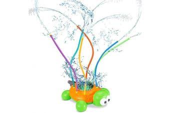 AMENON Turtle Sprinkler Toys for Kids, Outdoor Splash Water Sprinkler Toys for Yard Spinning Sprinklers Summer Outdoor Spray Water Toys for Kids Toddlers