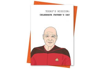 Star Trek Father's Day Card, Captain Picard Father's Day Card, Funny Fathers Day Card - Today's Mission Celebrate Father's Day Greeting Card