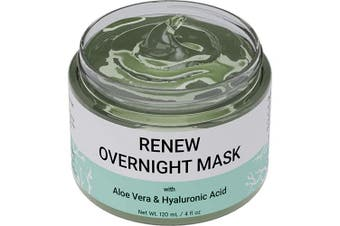 Renew Overnight Sleeping Facial Mask with Aloe Vera & Hyaluronic Acid