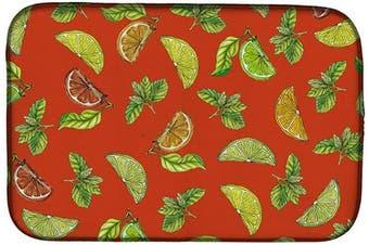 (Lemons, Limes and Oranges - Orange) - Caroline's Treasures BB5205DDM Lemons, Limes and Oranges Dish Drying Mat, 36cm x 50cm , multicolor