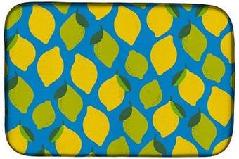 (Lemons and Limes) - Caroline's Treasures BB5150DDM Lemons and Limes Dish Drying Mat, 36cm x 50cm , multicolor