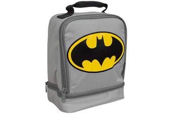 (Batman Grey/Yellow) - Thermos Dual Compartment Lunch Kit. (Batman Grey/Yellow)