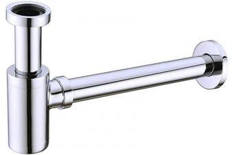 (Chrome) - BESTILL Brass Bottle P Trap Drain Kit for Bathroom Basin Sink, Chrome
