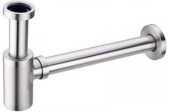 (Brushed Nickel) - BESTILL Brass Bottle P Trap Drain Kit for Bathroom Basin Sink, Brushed Nickel