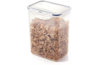 (STYLE A) - Lock & Lock Rectangular Storage Container - Clear/Blue, 1.8 L