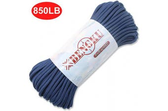 (100.0 Feet, 850 Midnight Blue) - BENGKU Outdoor Mil-SPEC 250kg Paracord/Parachute Cord(MIl-C-5040-H),30m