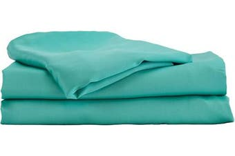 (Twin, Turquoise) - Hotel Sheets Direct Bamboo Bed Sheet Set 100% Viscose from Bamboo Sheet Set (Twin, Turquoise)