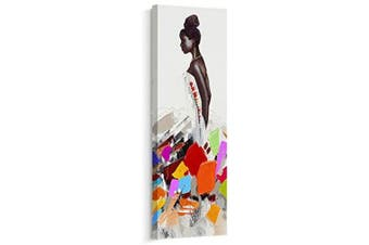(30cm  x 90cm , B) - Artinme Framed African American Black Art Dancing Black Women in Dress Wall Art Painting on Canvas Print Wall Picture for Home Accent Living Room Wall Decor (30cm x 90cm , B)