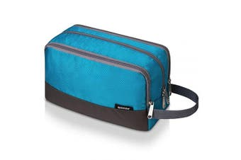 (A-Sky Blue) - WANDF Toiletry Bag Small Nylon Dopp Kit Lightweight Shaving Bag for Kids Men and Women (Sky Blue)