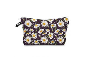 Makeup Pouch Cosmetic Bag and Toiletry Bag Sunflower For Accessories Daisies Travel Bag