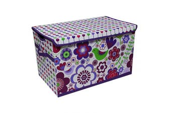 (Botanical Purple) - Bacati - Storage Tote (Toy Chest 37cm L x 60cm W x 38cm H, Botanical Purple)
