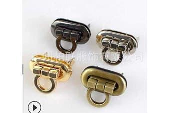 (black) - Batino 5pcs Metal Clasp Buckle Turn Lock for DIY Handbag Bag Closure Purse Making Hardware Accessories Black