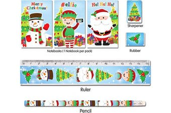 Henbrandt 2 x Christmas Stationery Set 5 Piece - Great Stocking Filler or Party Item