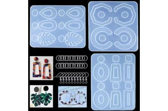(earring molds-A) - Earring Resin Moulds, 3Pcs Silicone Earring Moulds Bohemian Drop Dangle for Resin Casting Jewellery Making-Epoxy Resin & UV Resin DIY Crafts