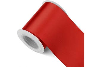 (7.6cm , Scarlet Red) - Humphrey's Craft 7.6cm Red Double Faced Satin Ribbon - 5 Yards Variety of Colour and Sizes for Crafts Gift Wrapping Cutting Ceremony Decoration Christmas Tree Wedding and Dining Tables.