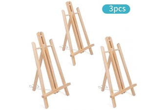 3PCS 41cm Wooden Easel, Painting Party Easel, Photo Painting Display Portable Tripod Holder Stand