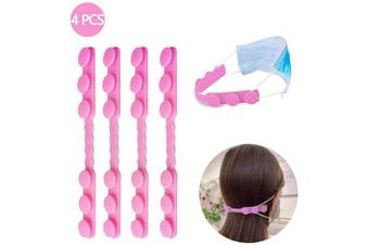 (PINK) - YOKFUN 4PCS Mask Extender,Adults and Kids Anti-Tightening Ear Protector Decompression Holder Hook Ear Strap Accessories Ear Grips Extension Mask Buckle Ear Pain Relieved (Pink)