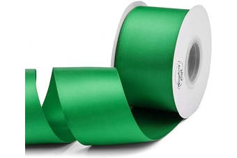 (Fern Green) - Humphrey's Craft 5.1cm Fern Green Double Faced Satin Ribbon - 25 Yards Variety of Colour for Crafts Gift Wrapping Bows Bridal Bouquet Cutting Ceremony Decoration Christmas Tree Wedding.