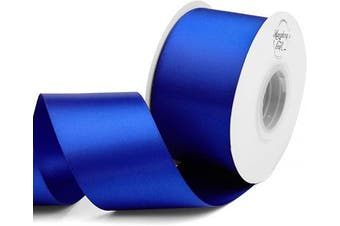 (Cobalt Blue) - Humphrey's Craft 5.1cm Cobalt Blue Double Faced Satin Ribbon - 25 Yards Variety of Colour for Crafts Gift Wrapping Bows Bridal Bouquet Cutting Ceremony Decoration Christmas Tree Wedding.