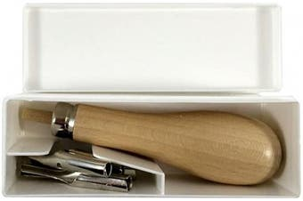 Abig Wooden Handle Lino Cutter & 5 Blades