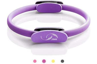 (33cm , purple) - JBM 33cm Pilates Ring Fitness Ring, Exercise Yoga Pilates Magic Circle with Dual Grip Handles for Fitness Training