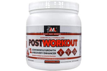Advanced Molecular Labs - Postworkout Powder, Lean Muscle Growth, Recovery Enhancer, Muscle Building Post Workout Recovery Drink for Women and Men, Watermelon, 360ml