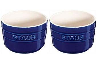 (2-piece, Dark Blue) - STAUB Ceramics Round Ramekin Set, 2-piece, Dark Blue