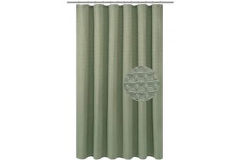 (71Wx84L(Extra Long), Sage) - Barossa Design Extra Long Fabric Waffle Weave Shower Curtain 210cm Height, Hotel Collection, Water Repellent, 230gsm Heavy Duty, Machine Washable, Sage Green Pique Pattern, 71x 84