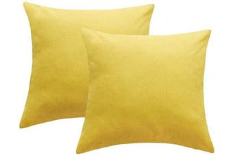 (41cm  x 41cm , Yellow) - 4TH Emotion Outdoor Waterproof Throw Pillow Covers Garden Cushion Case for Patio Couch Sofa Polyester Cotton Home Decoration Pack of 2, 41cm X 41cm Pineapple Yellow