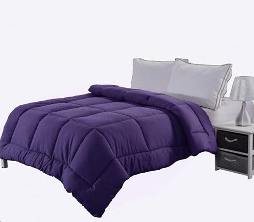 King Purple Ghooss King Size Bedding Down Comforter For All Season Hotel Quality Luxury Quilt 4 Corner Tabs Super Soft Microfiber Fill Machine Washable Purple King 230cm X 260cm Kogan Com