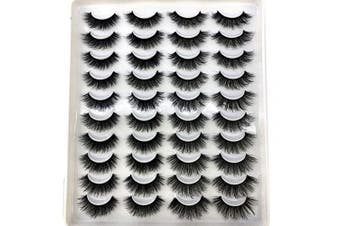 (H13) - HBZGTLAD 20 pairs 3D Mink Lashes Natural False Eyelashes Dramatic Volume Fake Lashes Makeup Eyelash Extension Silk Eyelashes (H13)