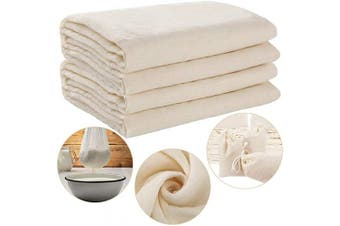 2 Pieces Cheesecloth, Grade 90, Totally 3sqm, Unbleached Cotton Fabric Reusable Fine Cheese Cloth for Cooking Baking Nut Milk Strainer
