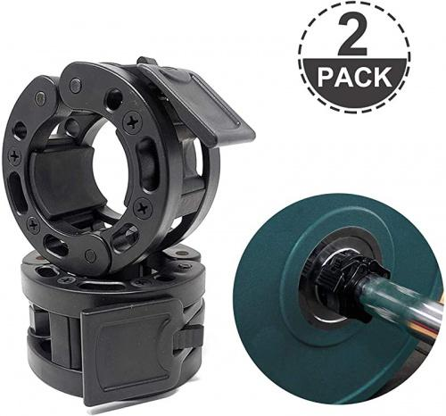 Garneck 2pcs Barbell Collar Dumbbell Screw Clamps Spinlock Collars Barbell Locking Collar Clamps for Weightlifting Crossfit Training