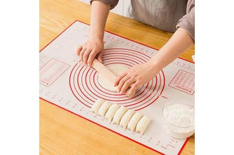 GREENRAIN Extra Large Silicone Pastry Mat Non Stick Baking Mat with Measurement Fondant Mat, Counter Mat, Dough Rolling Mat, Oven Liner, Pie Crust Mat (XXL-60cm (W)80cm (L))