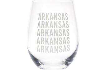 (Arkansas Grey) - Arkansas Repeating Grey 470ml Glass Wine Tumbler