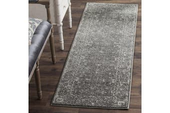 Safavieh Evoke Collection EVK270S Distressed Oriental Grey and Ivory Runner (0.6m x 4.6m)