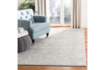 Safavieh Evoke Collection EVK270Z Vintage Shabby Chic Distressed Area Rug, 0.3sqm, Silver/Ivory