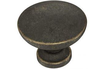 """(Knob, Single, Warm Chestnut) - Franklin Brass P29523-WCN-C 1-3/16"""" (30mm) Flat Top Round Knob, Single, Warm Chestnut"""