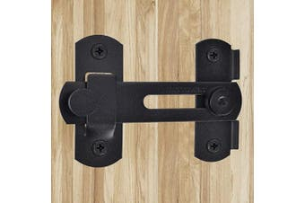 (Flip Latch Lock-Black) - Homode Flip Door Latch, Heavy Duty Stainless Steel Swing Gate Latch Cabinet Latch Safety Door Lock, Matte Black