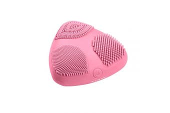 True Glow by Conair Skinpod Silicone Sonic Facial Cleansing Brush, Pink