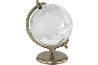 Deco 79 Traditional Glass and Metal Globe Decor 23cm W x 30cm H White, Gold
