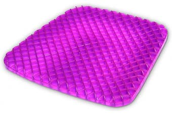 Gel Seat Cushion Comfort Honeycomb Egg Crate Design Gel Pad Provides Excellent Support For Lower Back, Spine, Hips Promotes Venting & Good Sitting Posture For Office Chair Car Sitter Wheelchair