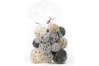 (Grey) - ANDALUCA Decorative Vase Filler Bag with Orbs, Balls (Grey)