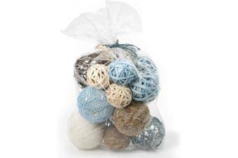 (Aqua Blue) - ANDALUCA Decorative Vase Filler Bag with Orbs, Balls (Aqua Blue)